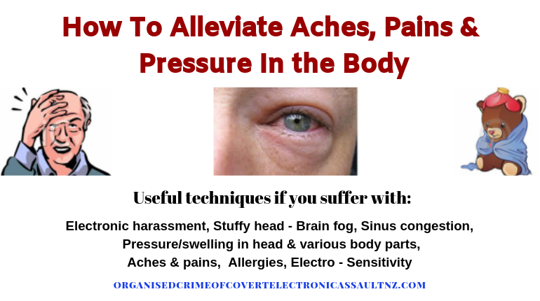 Good ways to alleviate aches & pains, brainfor, sinus congestion and more...