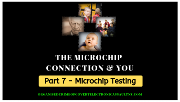 Microchip testing - The International Center Against Abuse of Covert Technologies tests victims of Electronic Assault for radio-frequency emissions from the body.
