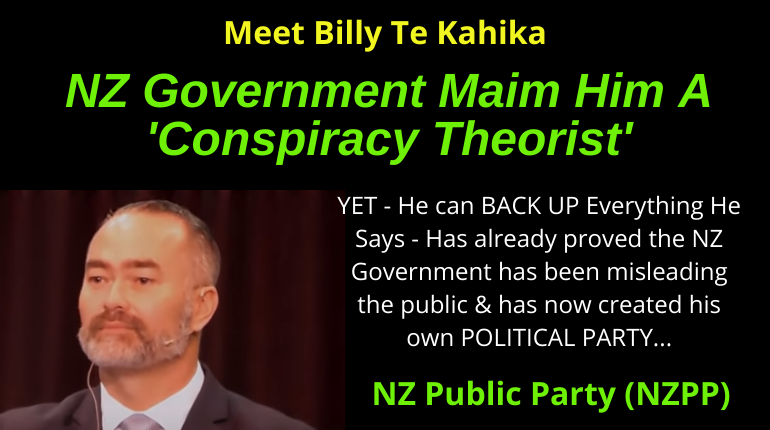 Billy Te Kahika Leader Of The NZ Public Party Maimed A Conspiracy Theorist
